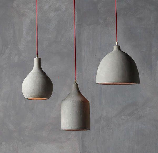 Concrete pendant  lamps by namuh                                                                                                                                                                                 More