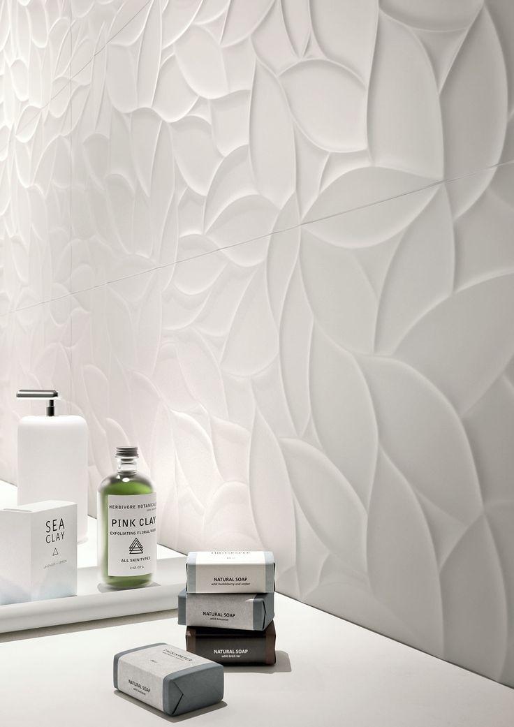 Essenziale - Cerámica Blanca para baños de estructuras tridimensionales | Marazzi