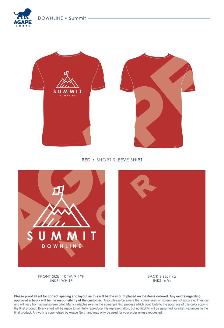 Agape North: Custom Apparel that Gives Back. #downliner #summit #churchretreats