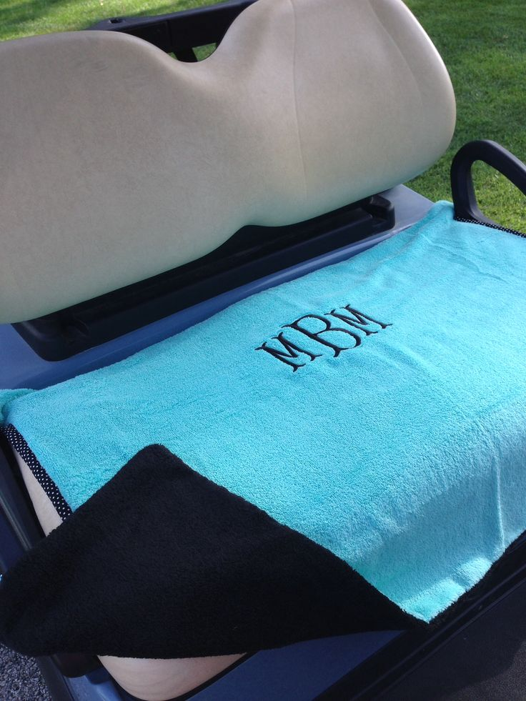 Monogrammed Golf Cart Seat Cover Totemearound.com