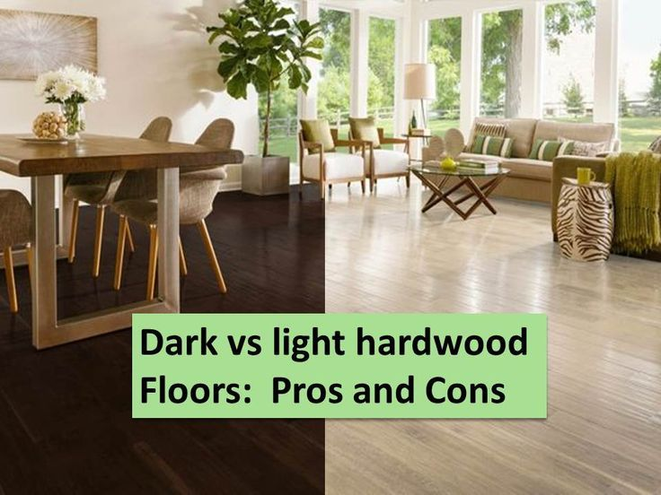 Which do you prefer - light or dark wood?  Which is more stylish?  Which show dirt less?  Which lasts longer?  Which costs less?