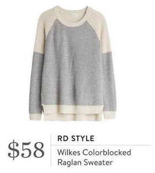 RD Style Wilkes Colorblocked Raglan Sweater. I love Stitch Fix! A personalized styling service and it's amazing!! Simply fill out a style profile with sizing and preferences. Then your very own stylist selects 5 pieces to send to you to try out at home. Keep what you love and return what you don't. Only a $20 fee which is also applied to anything you keep. Plus, if you keep all 5 pieces you get 25% off! Free shipping both ways. Schedule your first fix using the link below! #stitchfix…