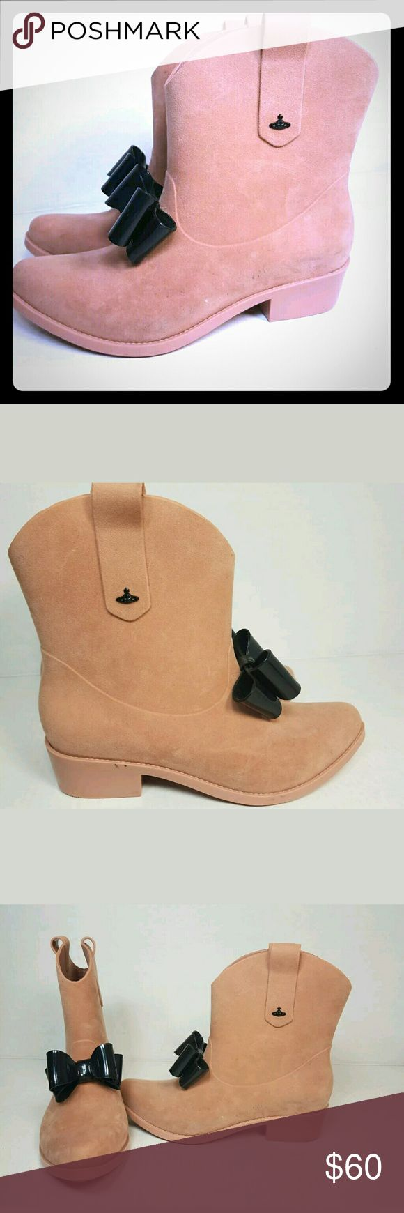 Vivienne westwood Melissa bow cowboy rain boot In great condition this is a rare colorway so don't miss out. If you have any questions let me know Vivienne Westwood Shoes