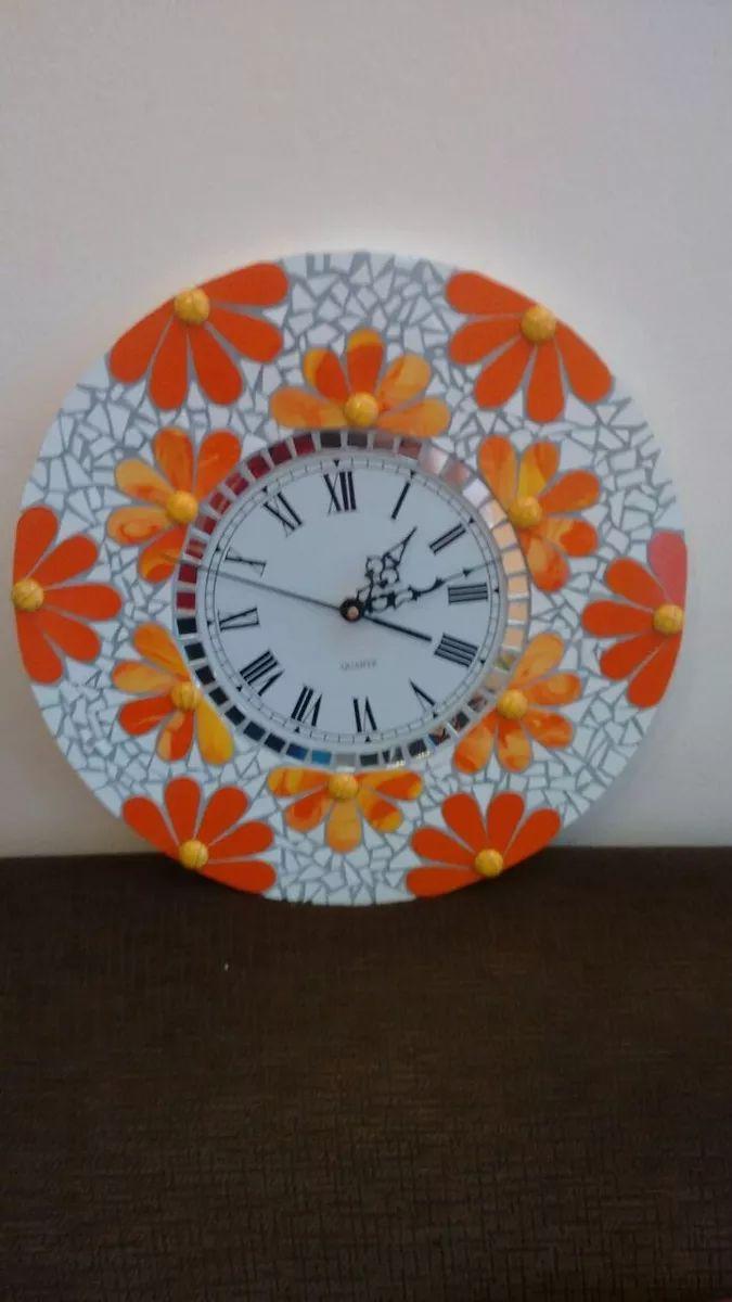 Vendo Relojes Echos En Vitrofusion Y Mozaiquismo - $ 650,00 en Mercado Libre