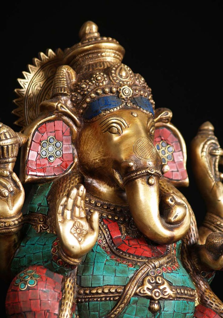"SOLD Large Ganesh Statue with Stones 13"" (#72bs82): Hindu Gods & Buddha…"