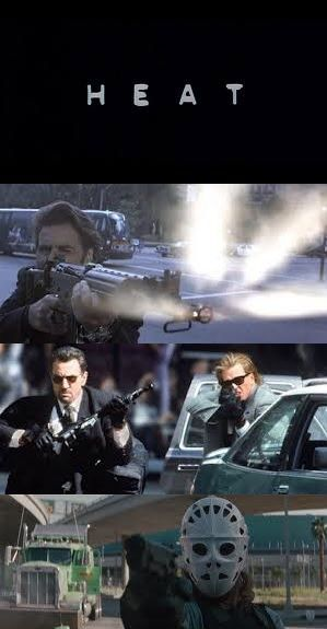 Great action thriller (not to be confused with THE Heat.) All star cast: Robert Di Nero, Al Pacino, Val Kilmer, Jon Voight, Ashley Judd, and a very young Natalie Portman.