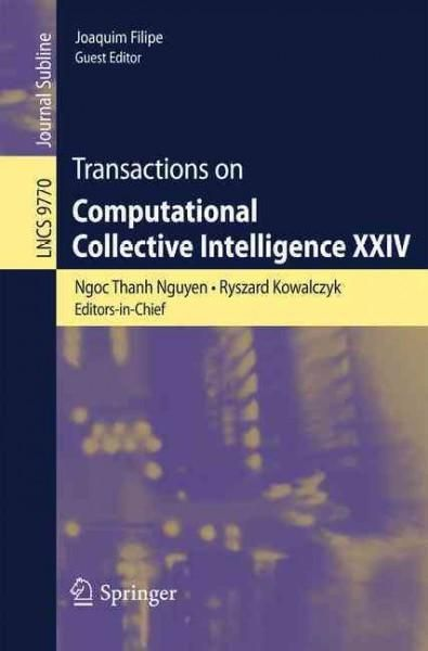 Transactions on Computational Collective Intelligence Xxiv
