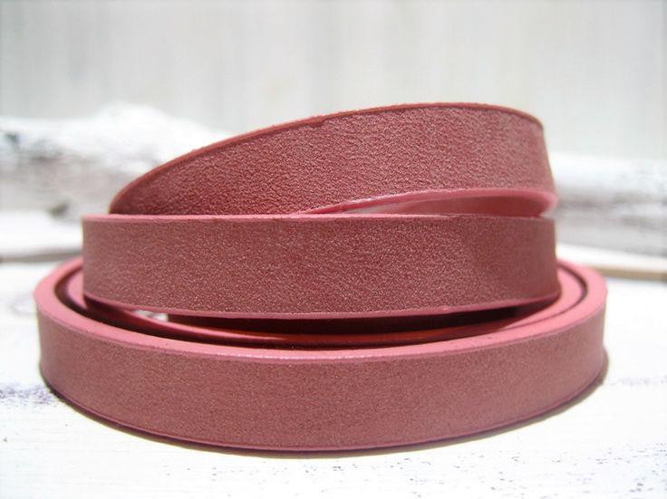 20cm+Lederband+antique+pink+10mm+flach+von+ChaPu+auf+DaWanda.com