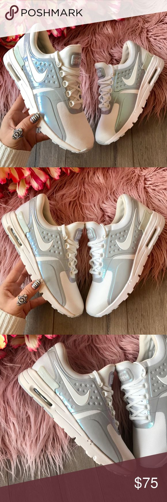 NWT Nike Air Max Zero pearl rare!! Worn once, like new condition, no box!price is firm!!no trades!!Designed in 1985 but un-released until 2015, the Nike Air Max Zero Women's Shoe is an Air Max 1 pre-concept design that combines a sleek upper and lightweig