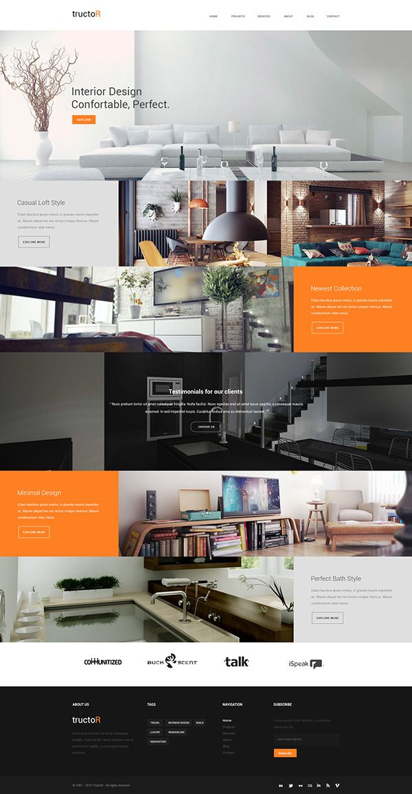 Tructor Web Theme on Behance