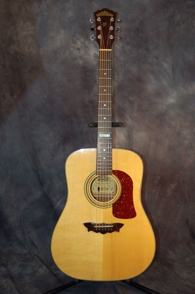 1998 Washburn Limited Edition Anniversary Dreadnought with ...