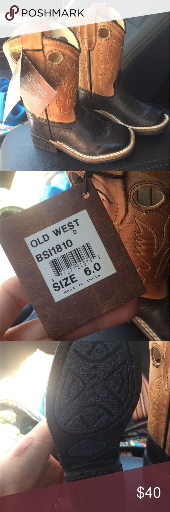 Toddler boy cowboy boots New with tags size 6 toddler cowboy boots old west Shoes Boots
