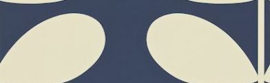 Giant Stem (110393) - Orla Kiely Wallpapers - Orla Kiely's giant stem design in a simple contemporary look - smaller scale also available. Shown in off white on navy blue - more colours are available. Please request a sample for true colour match. Paste-the-wall product.