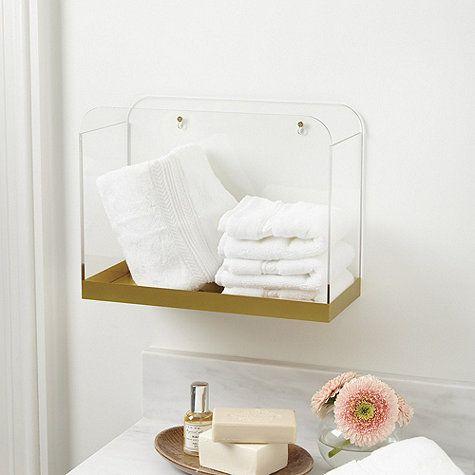 206 best images about bathroom on pinterest bathroom for Gold bathroom bin