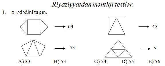 4 Cu Sinif Sagirdləri Ucun Riyaziyyatdan Məntiqi Testlər Chart Line Chart Save