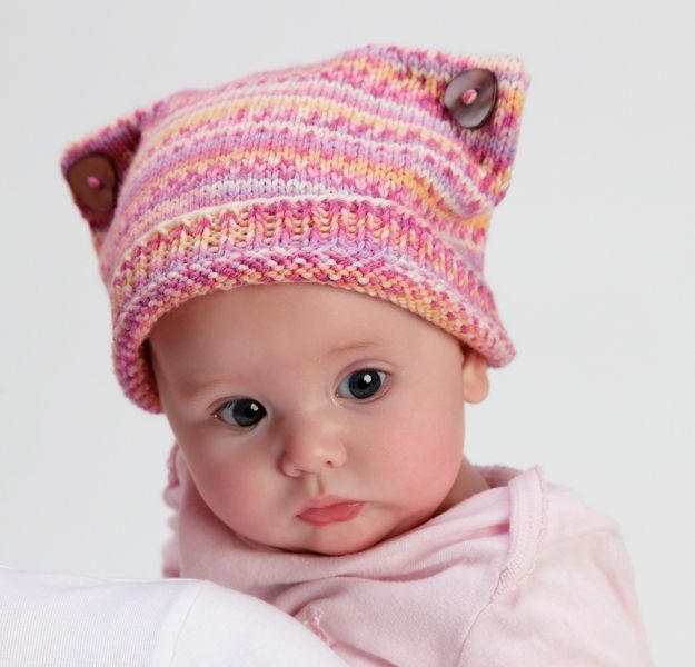 For all you knitters out there, check out this cute kitty hat for baby! Free ...