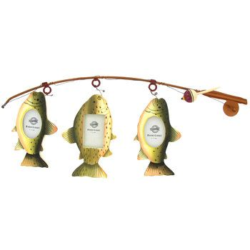 For Steven $8.99 8x20 Three Fish on Rod Picture Frame