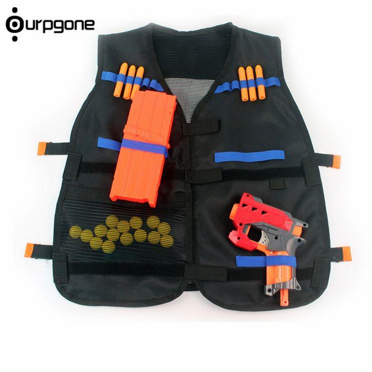54x47 cm Titular Munição Nerf Tactical Vest Jacket Colete Preto N-Strike Elite Pistola Balas Brinquedo Clipe dardos para Crianças Caçoa