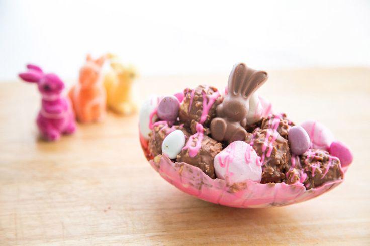 Sweet Magazine - Rocky Road Easter Egg Halves