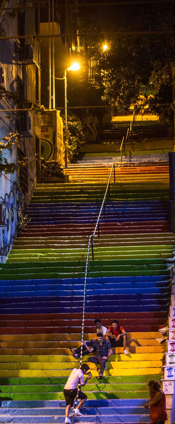 colofrul stairs .. Fındıklı Istanbul .. Turkey