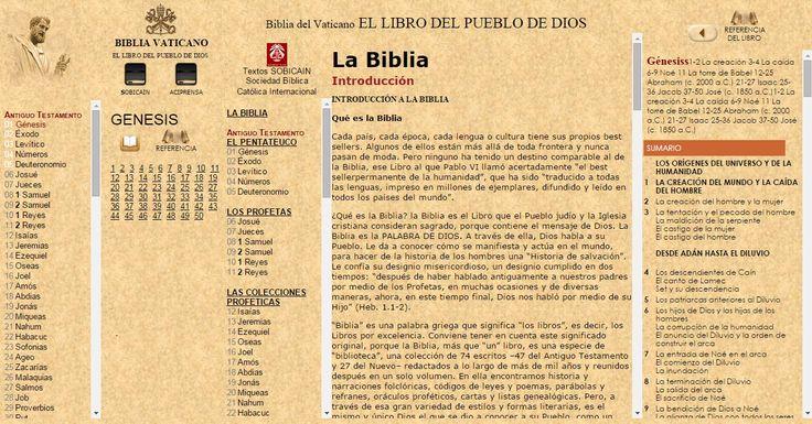 OÍR LA BIBLIA Católica [REFERENCIA DEL LIBRO-SOBICAIN ] ONLINE con EL Vaticano VaticanONLINE desde WWW.CATHOLIC.CF