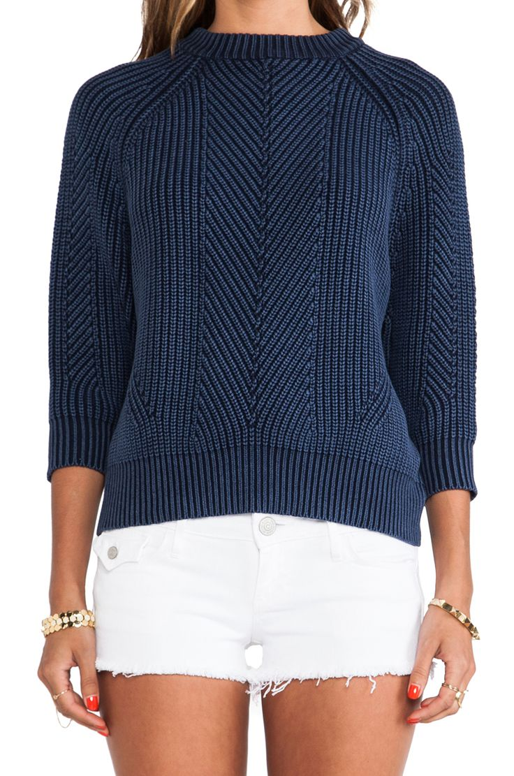 textured indigo knit