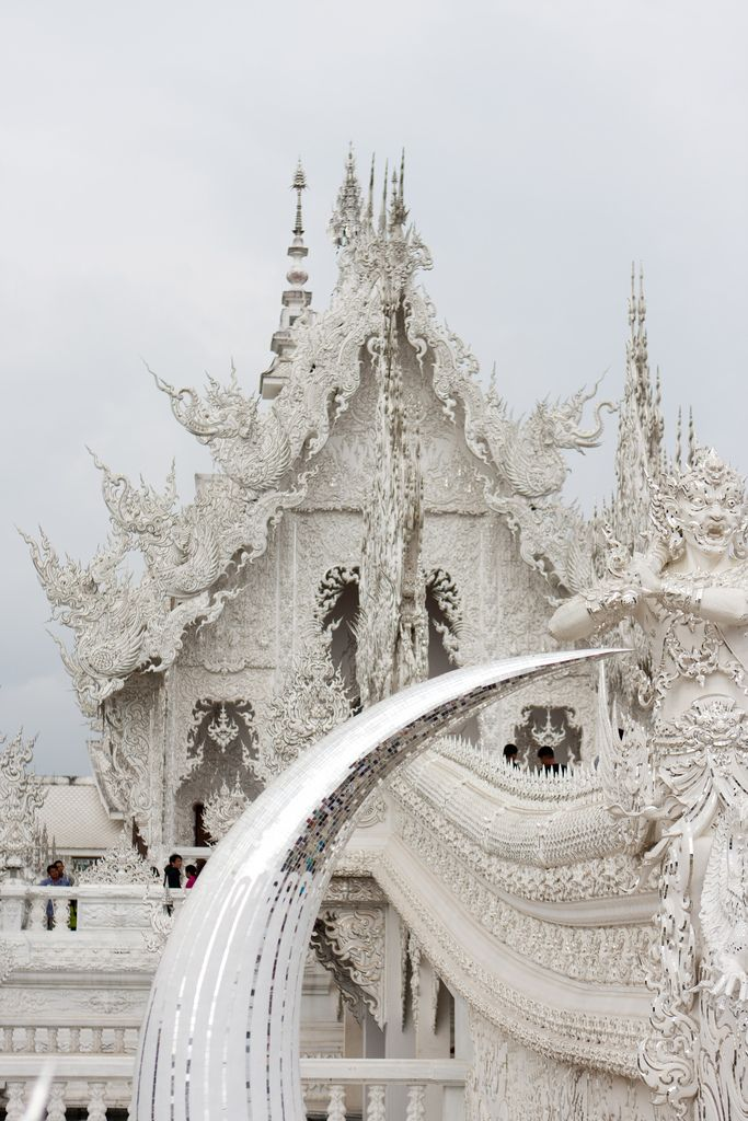 The while temple or Wat Rong Khun. Chang Rai, Thailand, December 2011