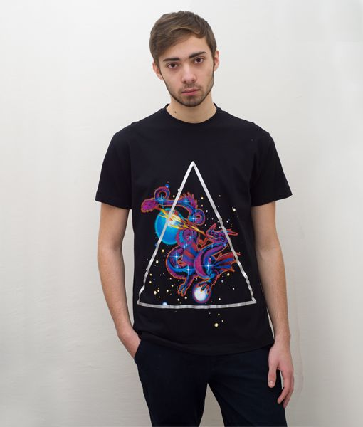 *Cosmic* Dragon Black T-Shirt