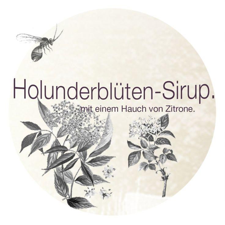 Holunderblüten-Sirup. | Etikett. Rezept dazu gibt es hier: http://kiraton.com/holly-trifft-ginger-rezepte-mit-holunderblueten/