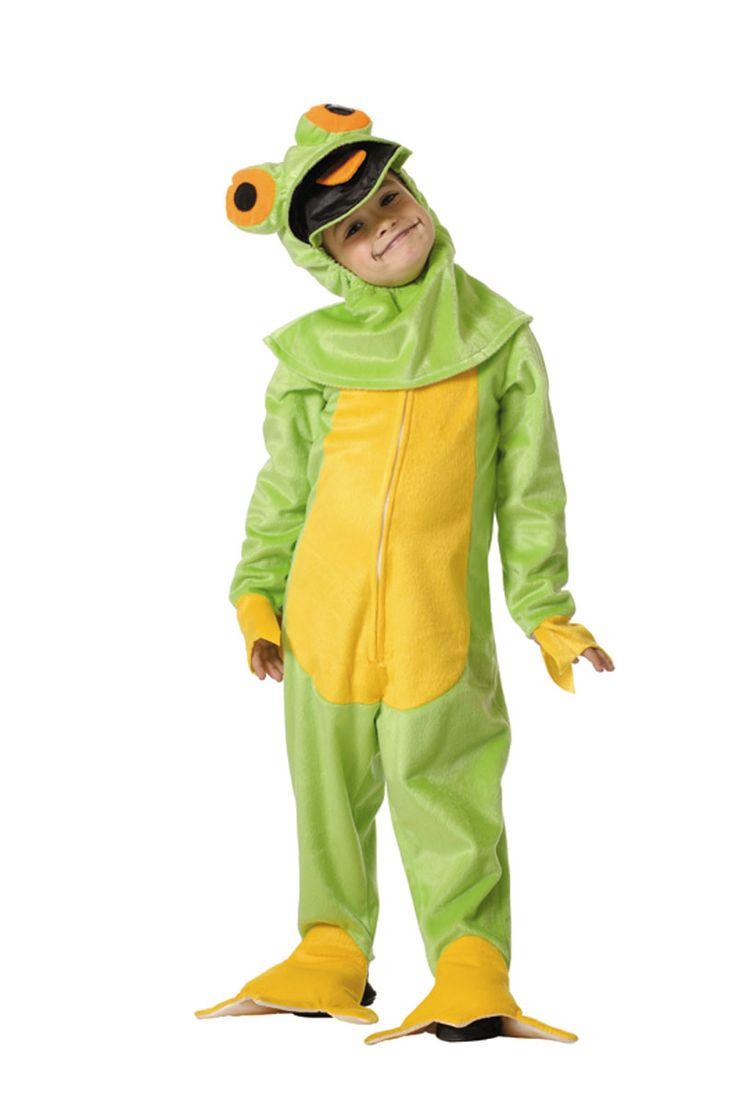 DisfracesMimo, disfraz de ranita verde infantil varias tallas. Compra tu disfraz barato de rana y transformarás a los pequeños de la familia en el conicido personaje de Barrio Sésamo. Viste a tu reportero verde preferido en fiestas temáticas, escolares y animales. fabricacion nacional