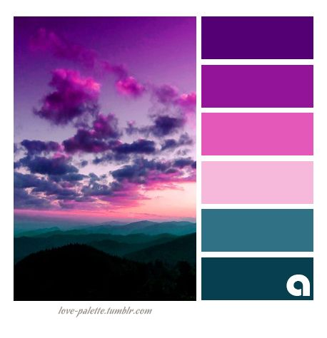 25 best ideas about bright color palettes on pinterest - Purple and red go together ...