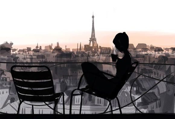 Sophie GriottoParis, Oneday, Dreams, Eiffel Towers, Art, Mornings Coffe, Fashion Illustration, Places, Sophie Griotto