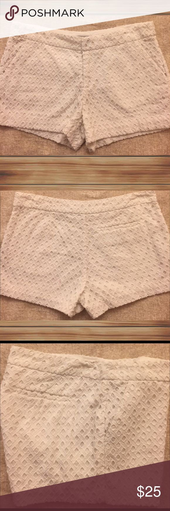 Joie Eyelet Shorts Size 6, white eyelet shorts for n excellent condition. Joie Shorts