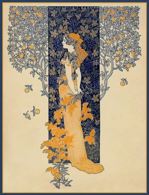 indigodreams:  1895 Ladies' Home JournalPlum Leaves(moving)