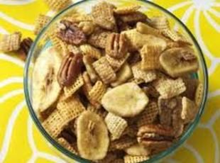 Bananas Foster Chex Mix