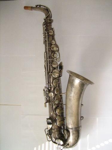 1930's Vintage Silver Bandmaster Alto Sax Saxophone Martin
