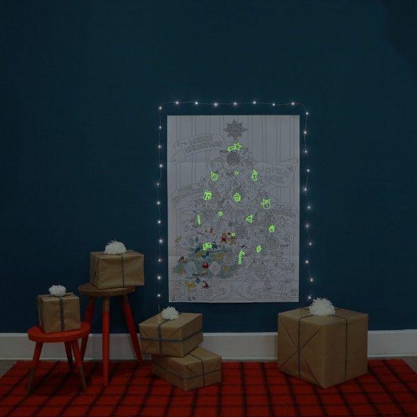 Poster Géant à Colorier Noël #coloriage #phosphorescent #christmas #noel