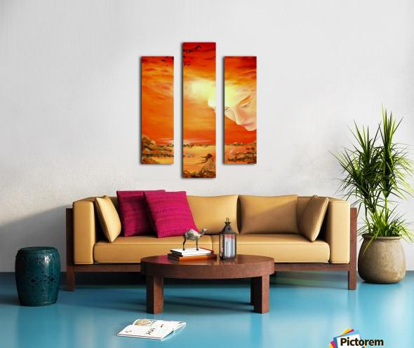 Triptych, 3 split, stretched, canvas, multi panel, prints, for sale, fairy,painting,coastal,scene,sunset,sunrise,angel,sky,orange,beautiful,images,contemporary,scenic,modern,wall,art,awesome,cool,artwork,for,sale,home,office,decor,island,heavenly,sea,ocean,water,guardian,shore,light,face,fantasy,surreal,fine,oil,items,ideas