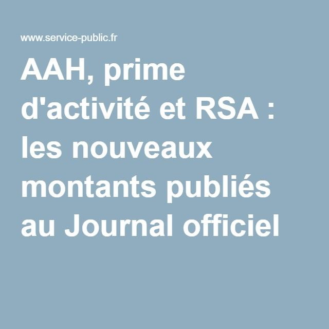 AAH, prime d'activité et RSA: les nouveaux montants publiés au Journal officiel