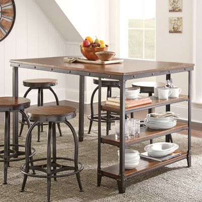 rustic dining tables counter height table dimensions cabrillo stools by coaster standard cm