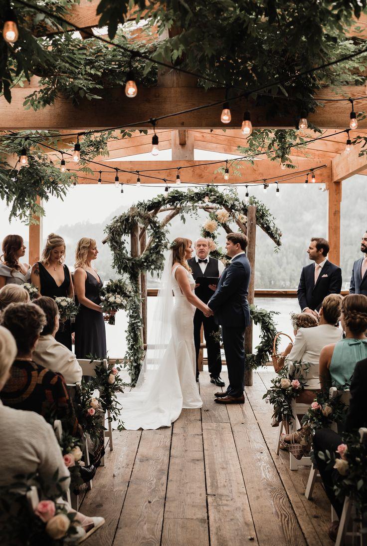 Whimsical West Coast Wedding Ceremony