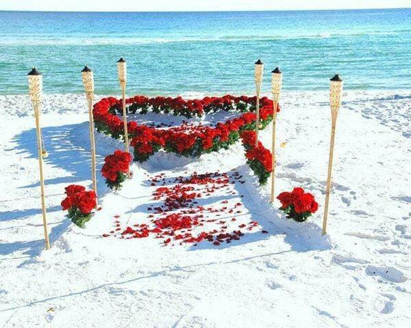 Beach Wedding Style Love The Red On White