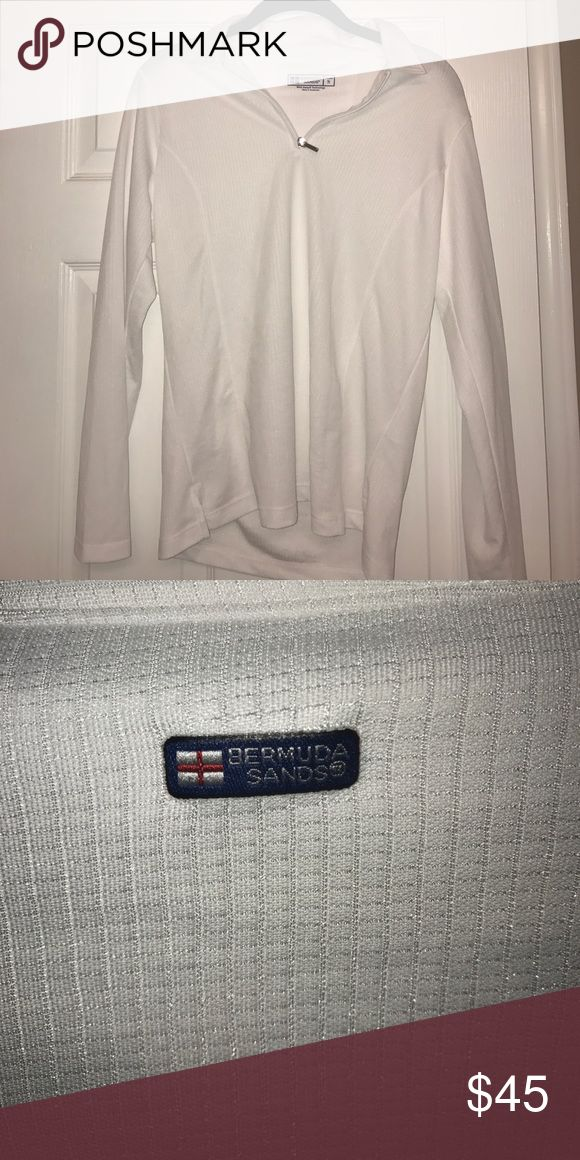 White athletic pullover White athletic pullover, never worn and in perfect condition! Made for golf, but can probably be used for other sports like tennis! Bermuda Sands Jackets & Coats