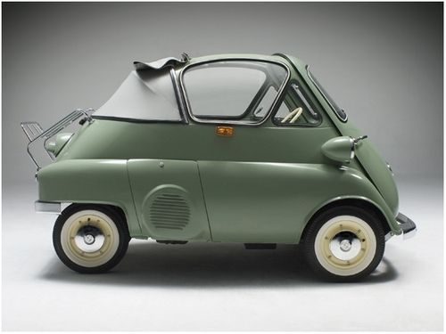 BMW Isetta Cabriolet - big name for a very small car..