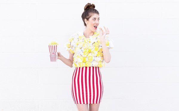 DIY Popcorn Halloween Costume - maskerix.com