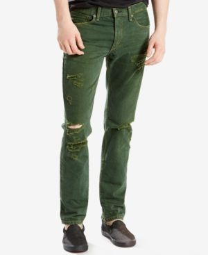 Levi's 511 Slim Fit Ripped Jeans - Green 29x32
