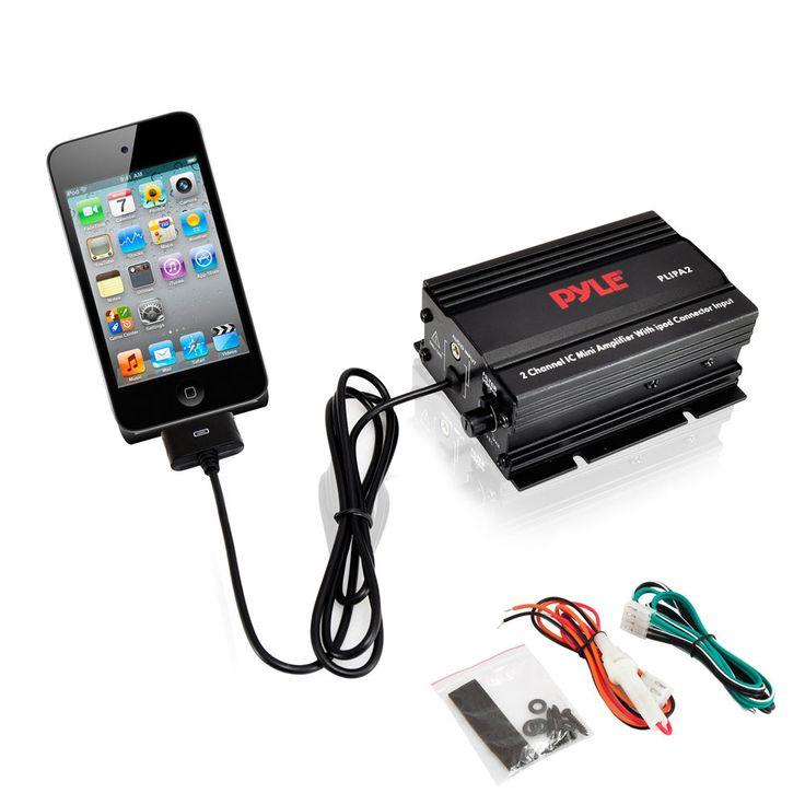 2 Channel 300 Watt Mini Car Audio Amplifier w/ipod Direct Input
