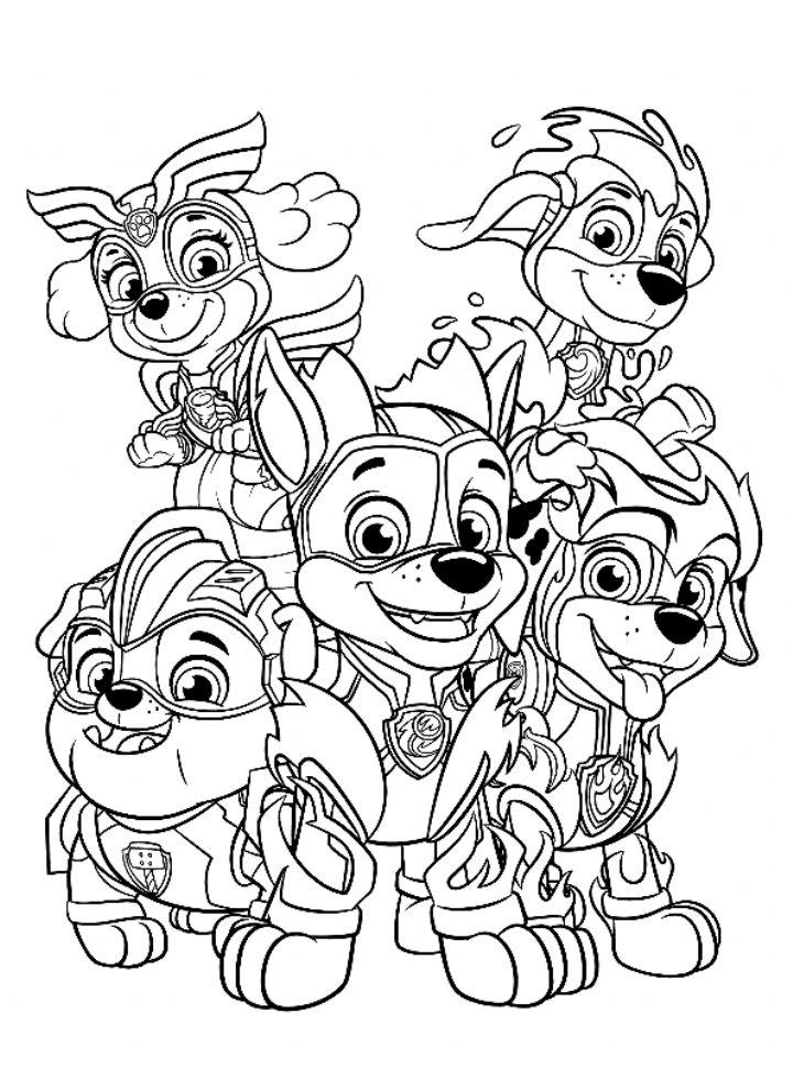 paw patrol coloring page n coloring in 2020
