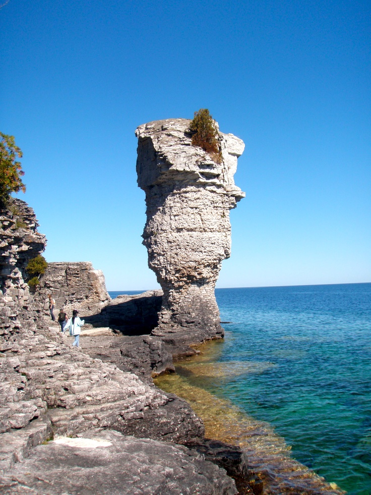 flower pot island  tobermory  lake huron ontario really cool place