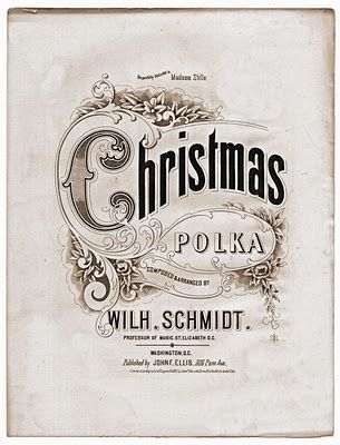 *The Graphics Fairy LLC*: Free Vintage Clip Art - Christmas Sheet Music